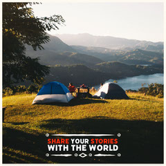 Share your stories with the world Instagram Square Lake