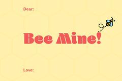 Bee mine valentine note Brunch