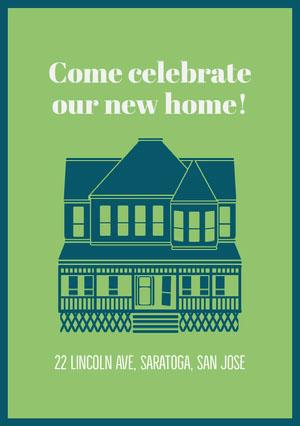 Come celebrate our new home! Housewarming Invitation