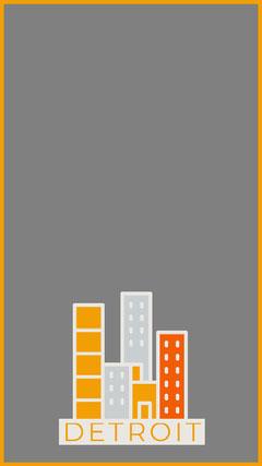 Grey and Orange Detroit Michigan Snapchat Filter City