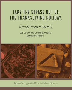 Take the stress out of the thanksgiving holiday. Thanksgiving