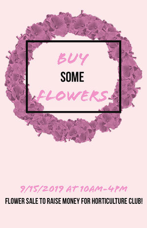 BUY some FLOWERS Pink Flyers
