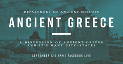 Blue and White Ancient Greece Discussion Facebook History