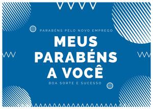 new job congratulations cards  Cartão de melhoras