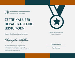 Christopher Heffen Zertifikat