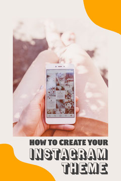 Orange & Cream Phone In Hand Pinterest Post Blogger