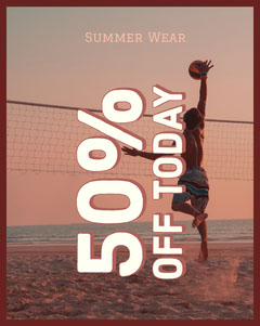 White and Pink Shop Sale Flyer Sports