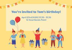Birthday Party Invitation  Balloon