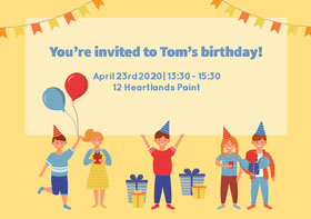 Birthday Party Invitation  Birthday Invitation
