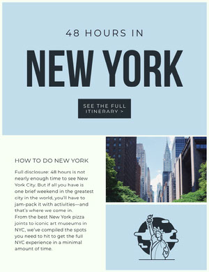 new york newsletter  Itinerario