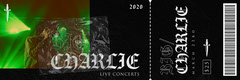 Black and Green Modern, Gothic, Live Concert Ticket Concert Ticket