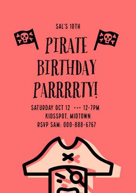 PIRATE BIRTHDAY PARRRRTY! Bachelorette Party Invitation