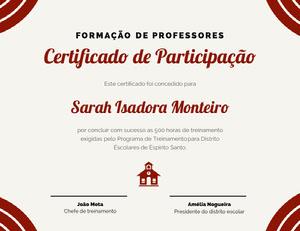Certificado de Participação  Diploma