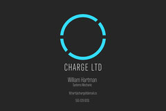 Black & Blue Charge LTD Business Card Tech