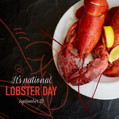 red yellow national lobster day instagram  Orange