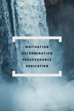 Blue Waterfall Photo and Motivational Words Poster Affiche de motivation