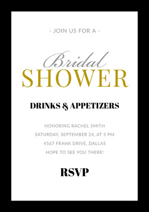 SHOWER  Bridal Shower Invitation