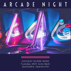 ARCADE NIGHT Game Night Flyer