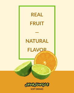 Green and Orange Citrus Soda Instagram Portrait Ad Juice