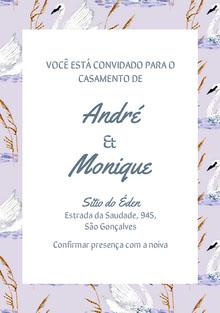 swan patterned wedding cards  Cartão de felicitações aos noivos