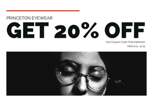 Black and White Eyewear Sale Flyer Coupon