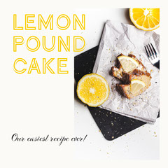 lemon pound cake Instagram square Cakes