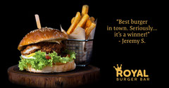 Royal Burger Bar testimonial - Facebook Post Burger