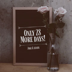 Wedding Countdown Instagram Square with Roses in Vase Countdown