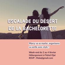 ESCALADE DU DÉSERT DE LA BACHELORETTE