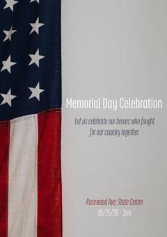 US Flag Memorial Day Flyer Memorial Day Flyer