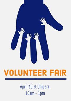 volunteer fair poster Fairs