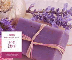Pink Floral Soap Sale Display Ad Discount