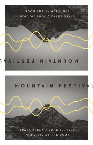 MOUNTAIN FESTIVAL Konsertaffisch