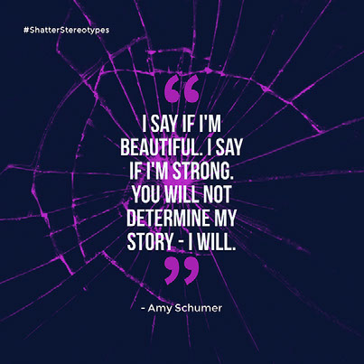 I say if I'm beautiful. I say if I'm strong. You will not determine my story - I will.