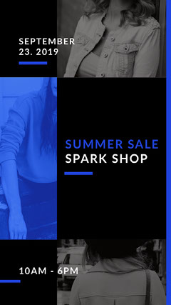 SUMMER SALE<BR>SPARK SHOP<BR><BR>- Sale Flyer
