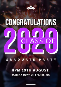 Pink and White Graduation Poster Graduation Congratulation