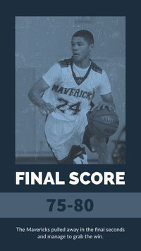 Blue and White Basketball Score Board Instagram Story Basketball