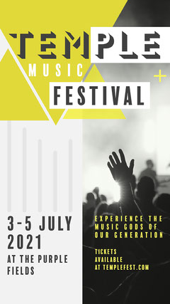 Green & Grey Geometric Music Festival Instagram Story Festival