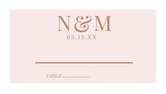 Brown Elegant Wedding Table Place Card Brown