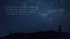 Night Sky Inspirational Quote Desktop Wallpaper Background