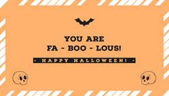 Halloween Pumpkin Bat Party Gift Tag Halloween Gift Tag