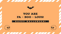 Halloween Pumpkin Bat Party Gift Tag Halloween Party