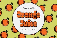 Green & Orange Juice Label Landscape Juice