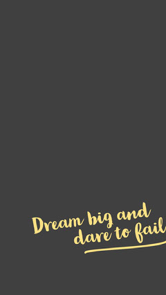 Dream big and Background