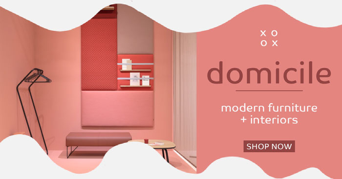 Pink and White Furniture Facebook Post Idées de brochures