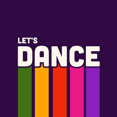 Colorful Retro Dance Instagram Square Graphic Groovy