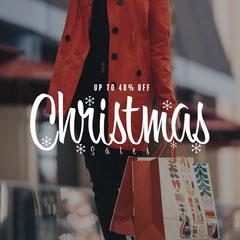 Woman Shopper Christmas Sales Instagram Square Christmas