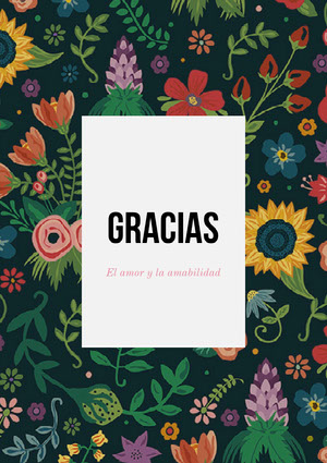 colorful floral patterned thank you cards  Tarjeta de agradecimiento