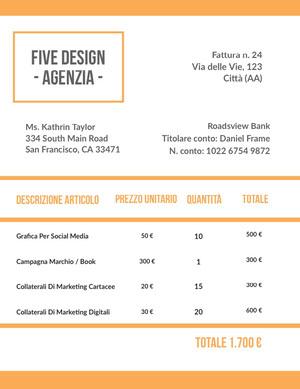 design agency invoice Fattura