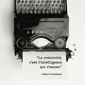 Albert Einstein quotes Instagram square  Affiche de motivation